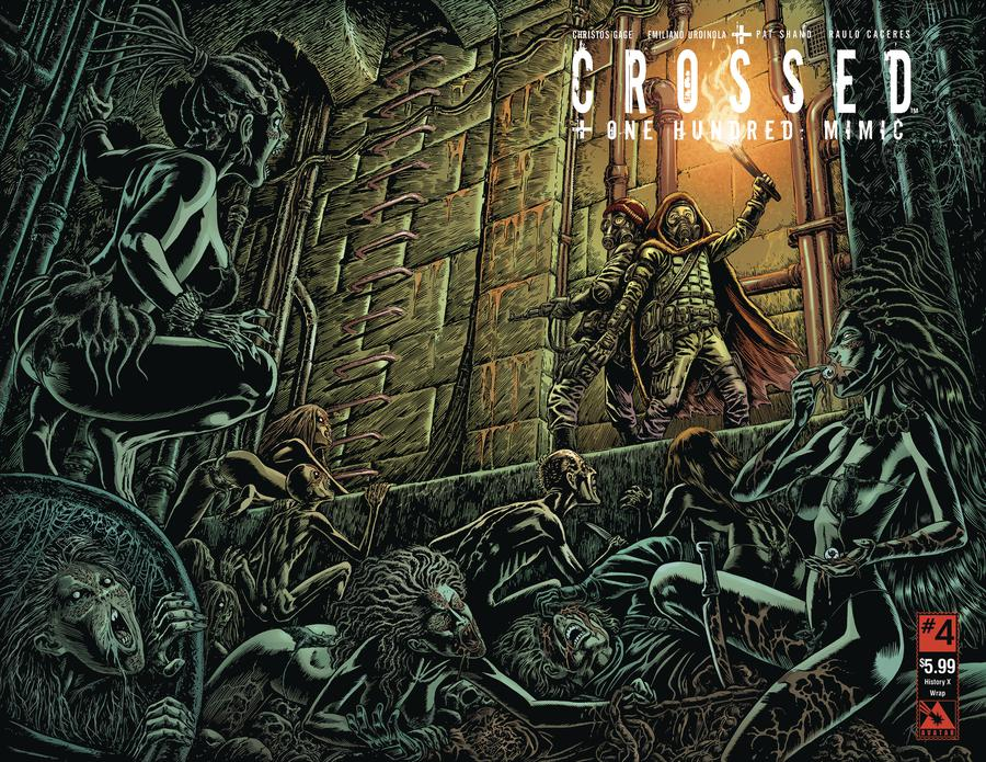 Crossed Plus 100 Mimic #4 Cover C History X Wraparound Cover