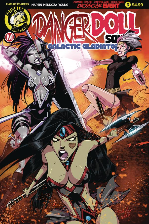Danger Doll Squad Galactic Gladiators #3 Cover A Regular Celor Cover