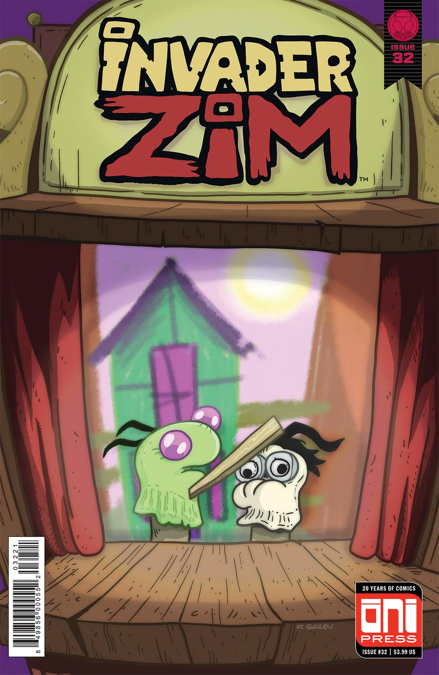 Invader Zim #32 Cover B Variant KC Green Cover