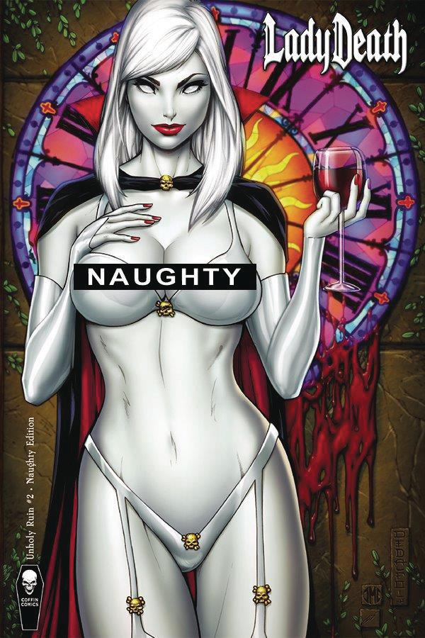 Lady Death Unholy Ruin #2 Cover D Variant Mike Debalfo & Jeremy Clark Naughty Cover