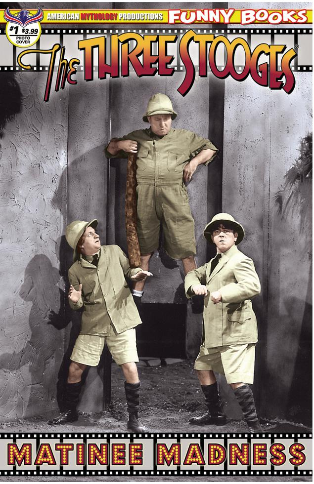 Three Stooges Matinee Madness #1 Cover B Variant Color Photo Cover