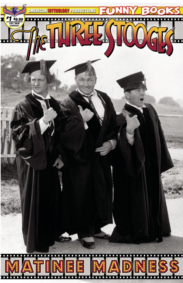 Three Stooges Matinee Madness #1 Cover C Variant Premium Black & White Photo Cover