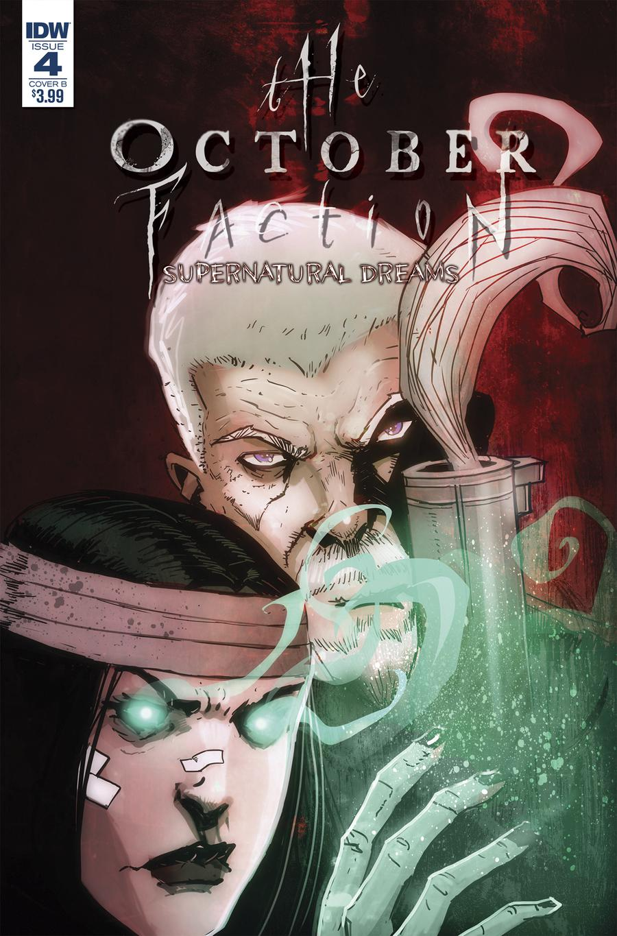 October Faction Supernatural Dreams #4 Cover B Variant Damien Worm Cover