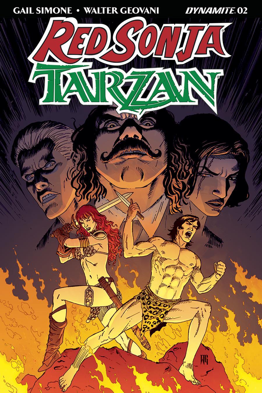 Red Sonja Tarzan #2 Cover B Variant Walter Geovani Cover