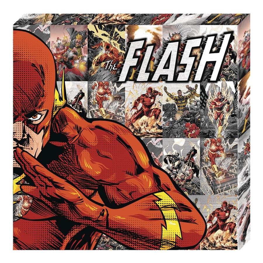 DC Heroes Metallic Canvas Art Print - Flash