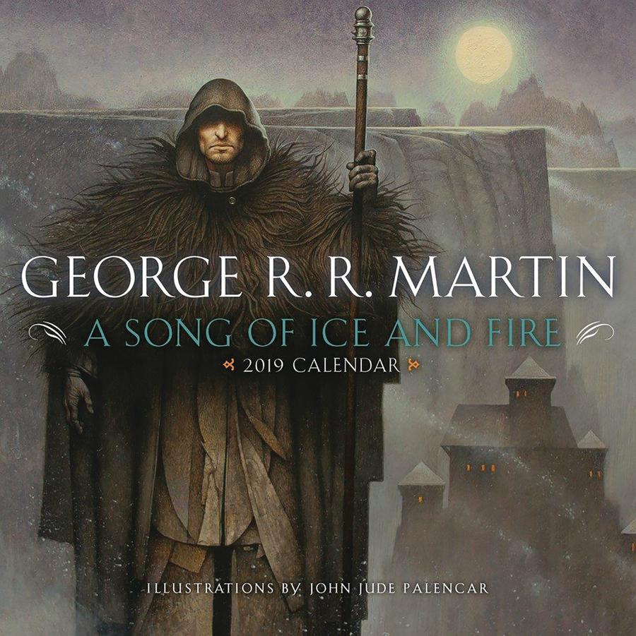 George RR Martin A Song Of Ice And Fire 2019 Wall Calendar
