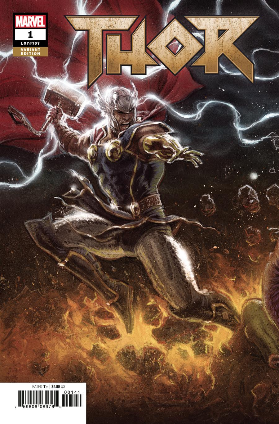 Thor Vol 5 #1 Cover B Variant Kaare Andrews Connecting Party Cover (1 Of 3)