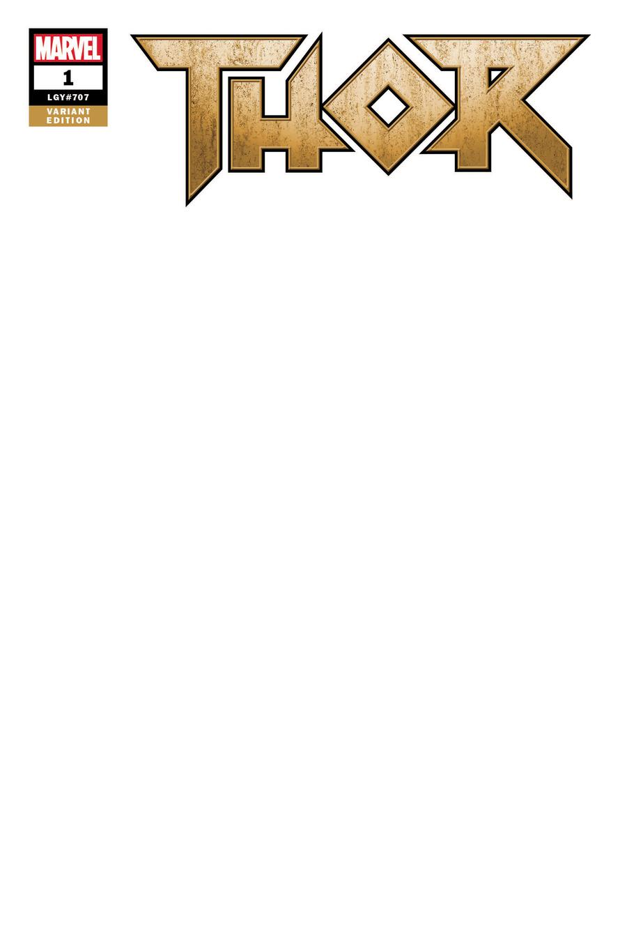 Thor Vol 5 #1 Cover C Variant Blank Cover