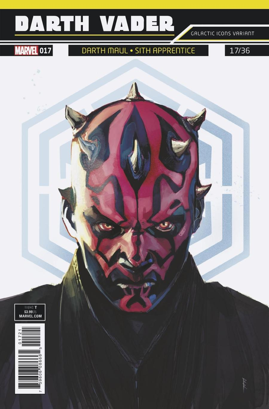 Darth Vader Vol 2 #17 Cover B Variant Rod Reis Galactic Icon Cover