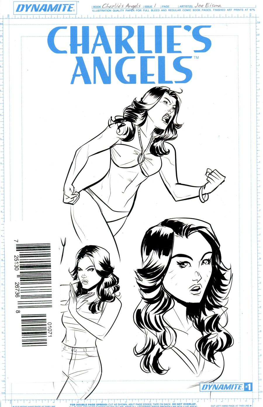 Charlies Angels #1 Incentive Joe Eisma Artboard Edition 3-Cover Set