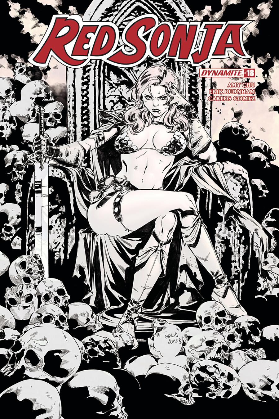 Red Sonja Vol 7 #18 Cover F Incentive Carlos Gomez Black & White Cover