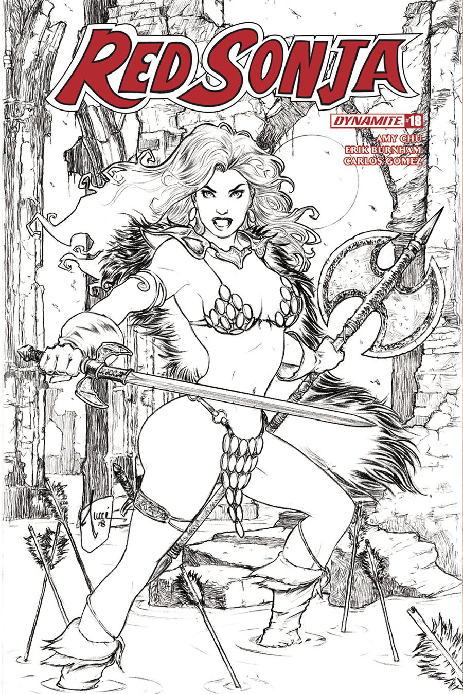 Red Sonja Vol 7 #18 Cover H Incentive Billy Tucci Black & White Cover