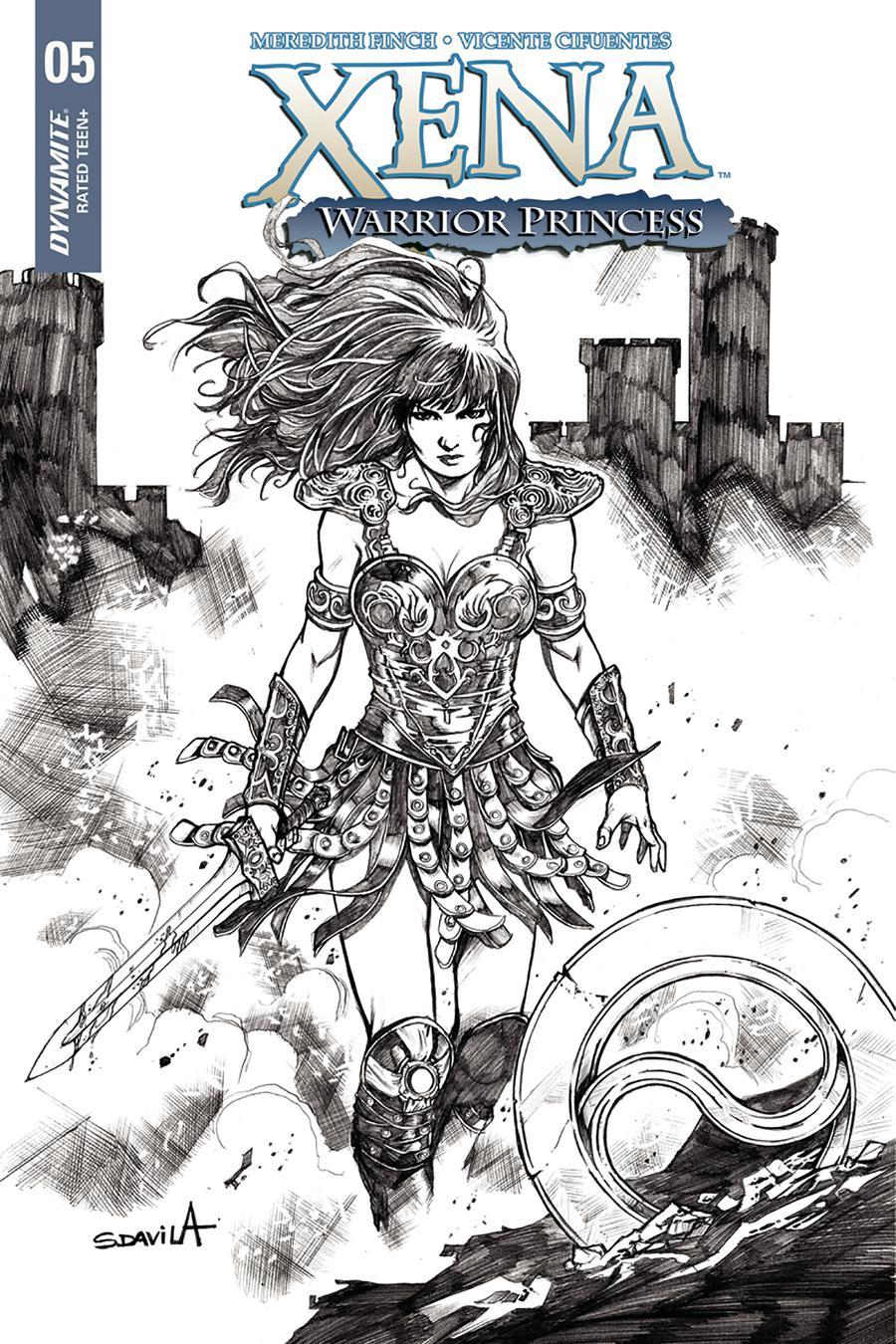 Xena Vol 2 #5 Cover E Incentive Sergio Davila Black & White Cover