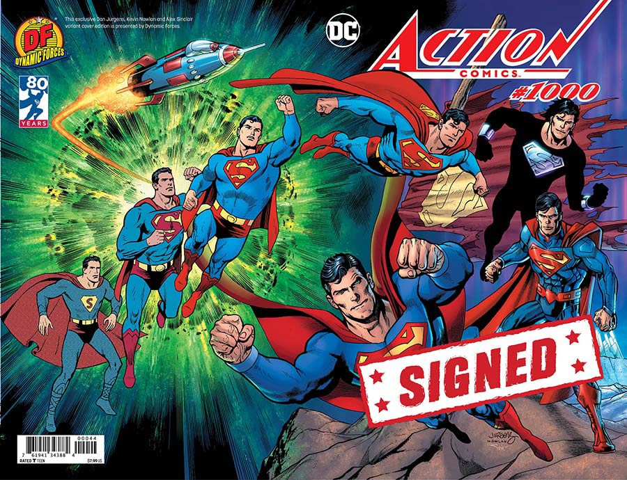 Action Comics Vol 2 #1000 Cover U DF Exclusive Dan Jurgens Wraparound Color Variant Cover Signed By Dan Jurgens
