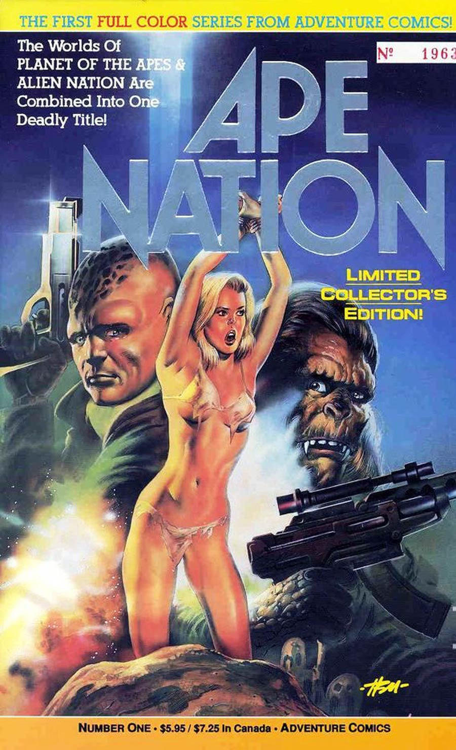 Ape Nation #1 Cover B Limited Collectors Edition