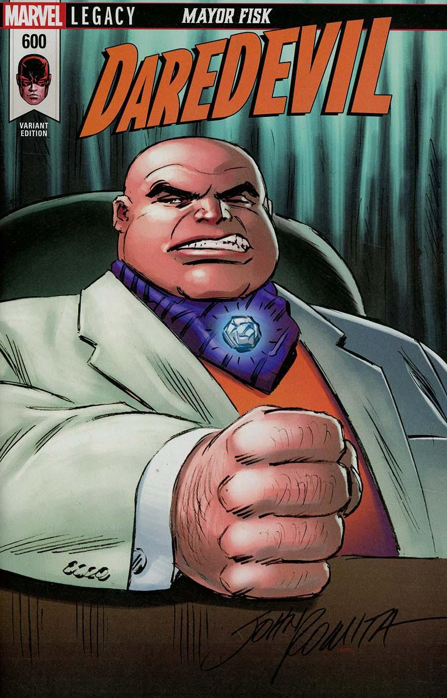 Daredevil Vol 5 #600 Cover K Variant Scorpion Comics John Romita Sr Cover (Marvel Legacy Tie-In)