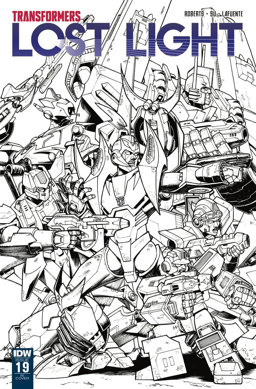 Transformers Lost Light #19 Cover C Incentive Nick Roche Sketch Cover