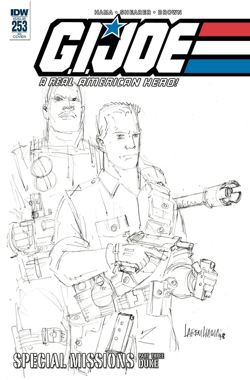 GI Joe A Real American Hero #253 Cover C Incentive Larry Hama Pencil Art Variant Cover