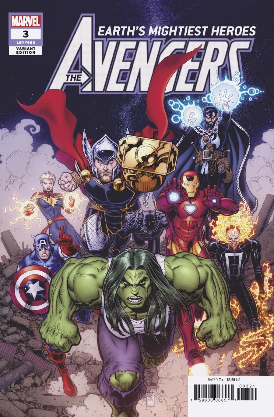 Avengers Vol 7 #3 Cover B Incentive Arthur Adams Variant Cover
