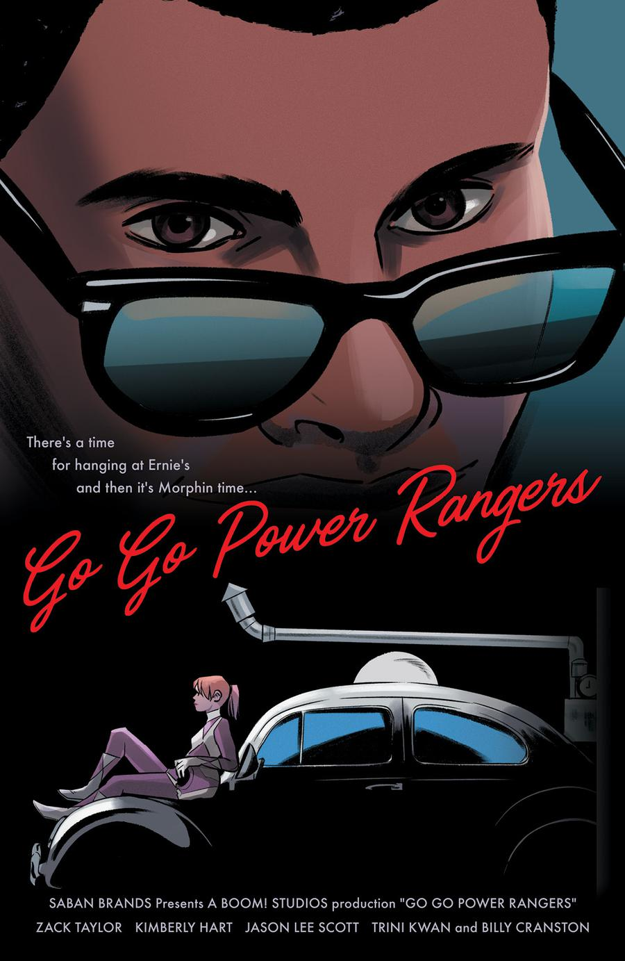 Sabans Go Go Power Rangers #10 Cover D Incentive Natacha Bustos Virgin Variant Cover (Shattered Grid Part 4)