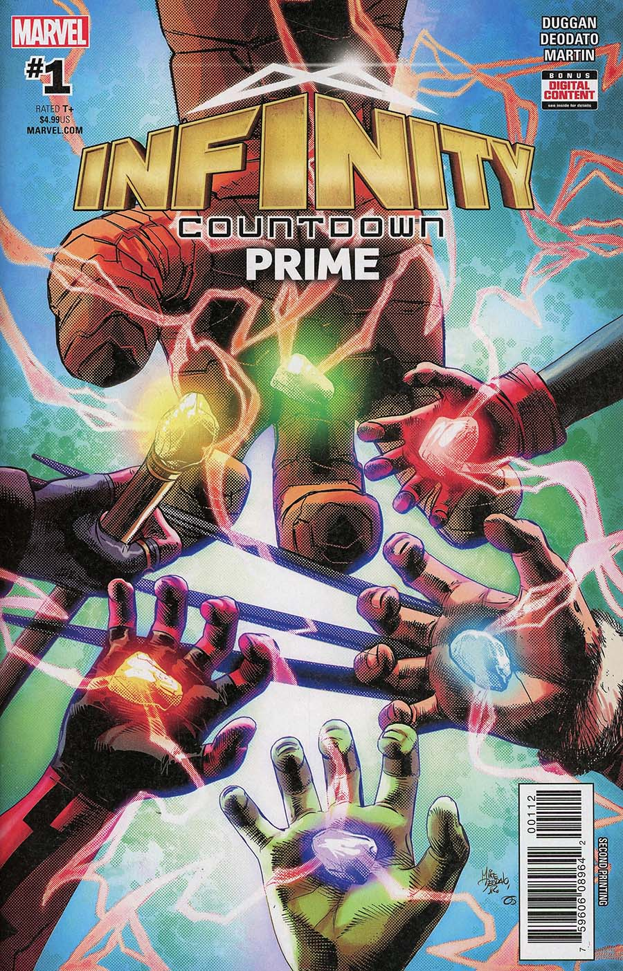 Infinity Countdown Prime #1 Cover E 2nd Ptg Variant Mike Deodato Cover (Marvel Legacy Tie-In)