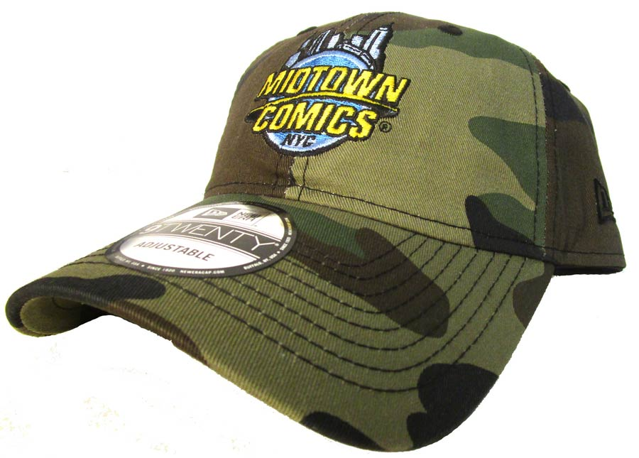 Midtown Comics Logo Woodland Camo 920 Buckle Strap Cap Powered By New Era