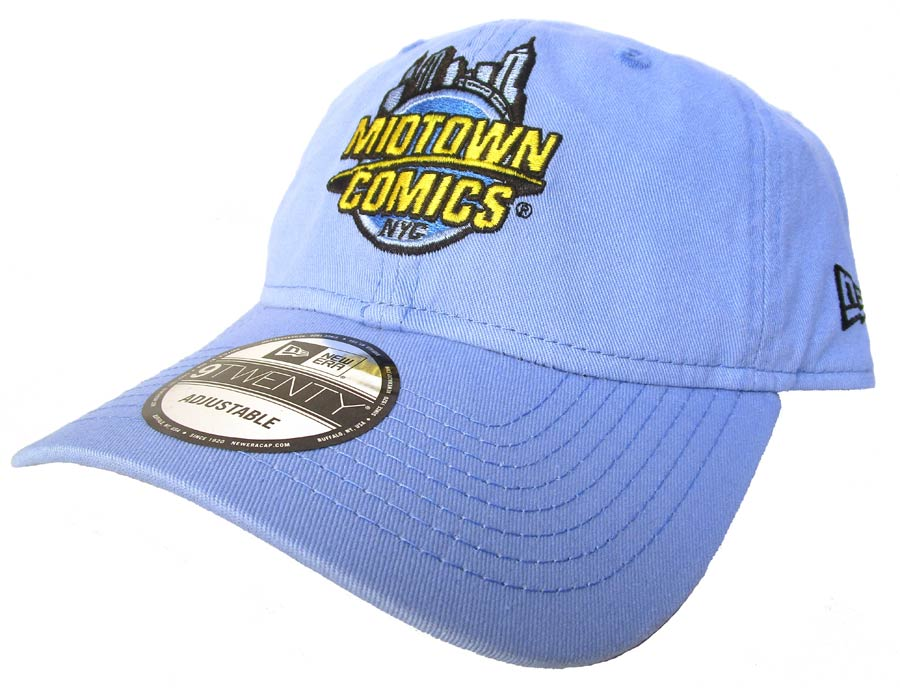 Midtown Comics Logo Sky Blue 920 Buckle Strap Cap Powered By New Era