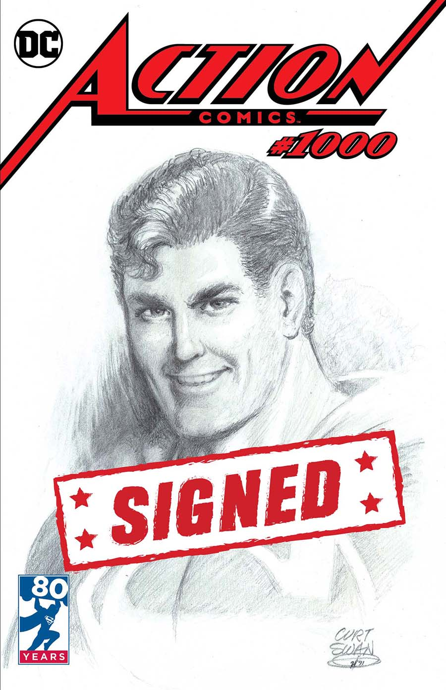 Action Comics Vol 2 #1000 Cover Y DF Exclusive Curt Swan Variant Cover Signed By Dan Jurgens