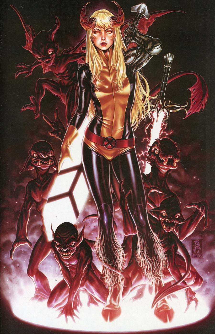 New Mutants Dead Souls #1 Cover K Comic Sketch Art Convention Exclusive Mark Brooks Hellfire Variant Cover