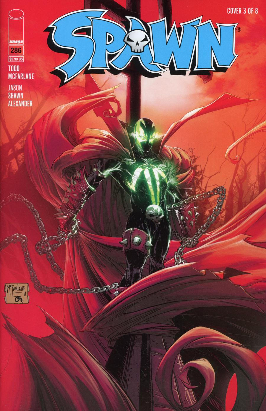 Spawn #286 Cover C Variant Todd McFarlane & Frank Martin Cover