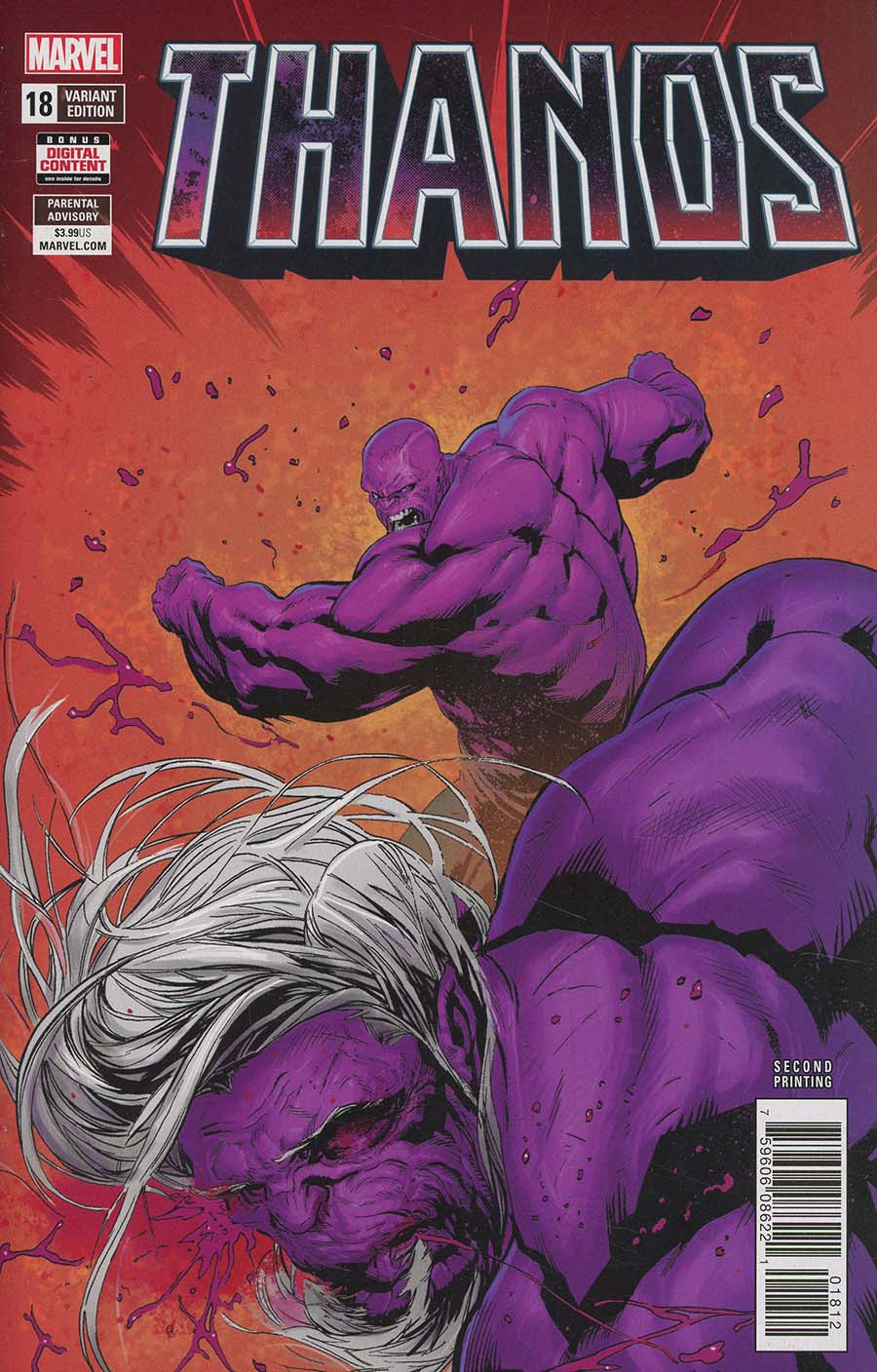 Thanos Vol 2 #18 Cover C 2nd Ptg Variant Geoff Shaw Cover