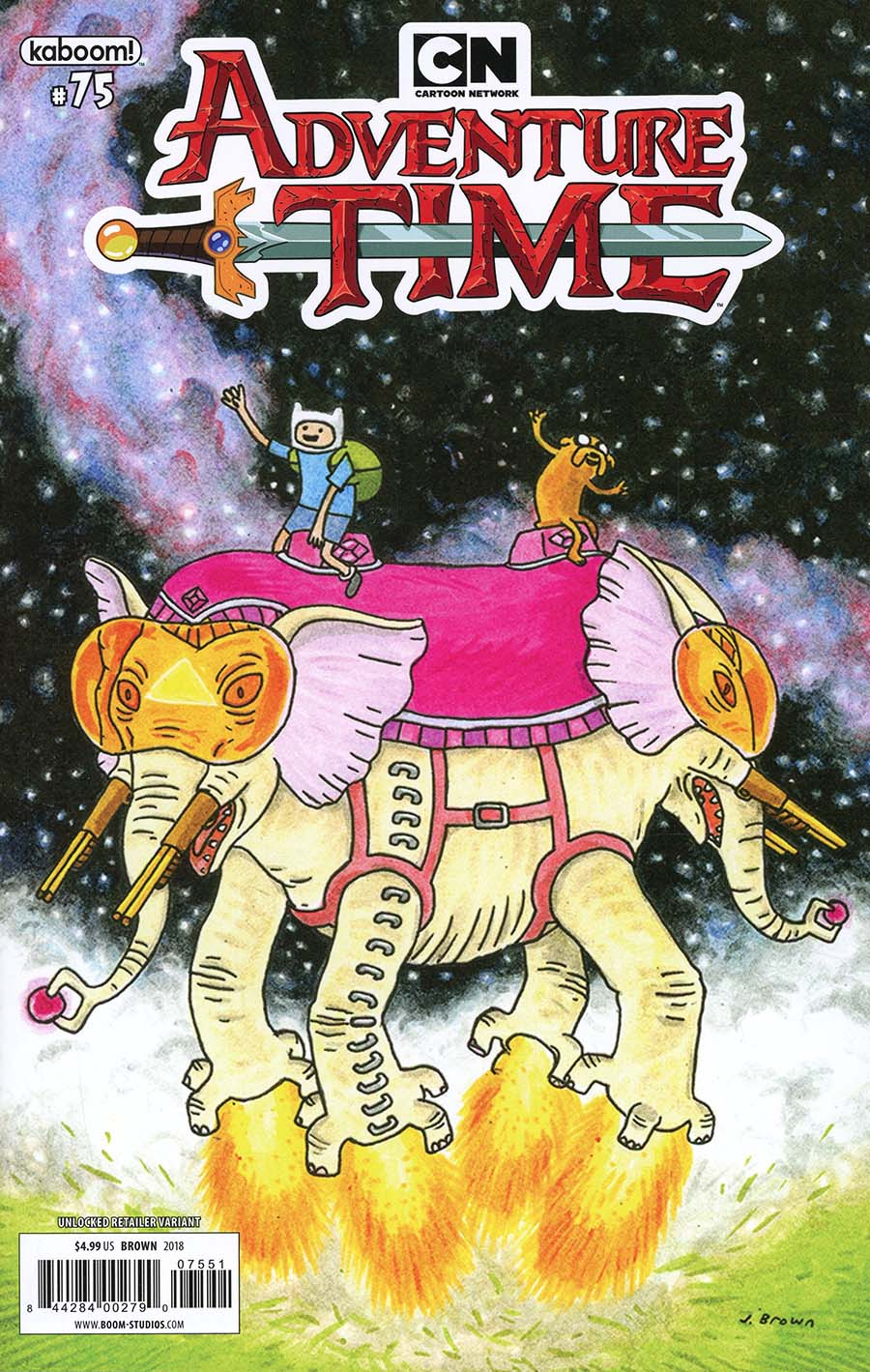 Adventure Time #75 Cover D Variant Jeffrey Brown Cover