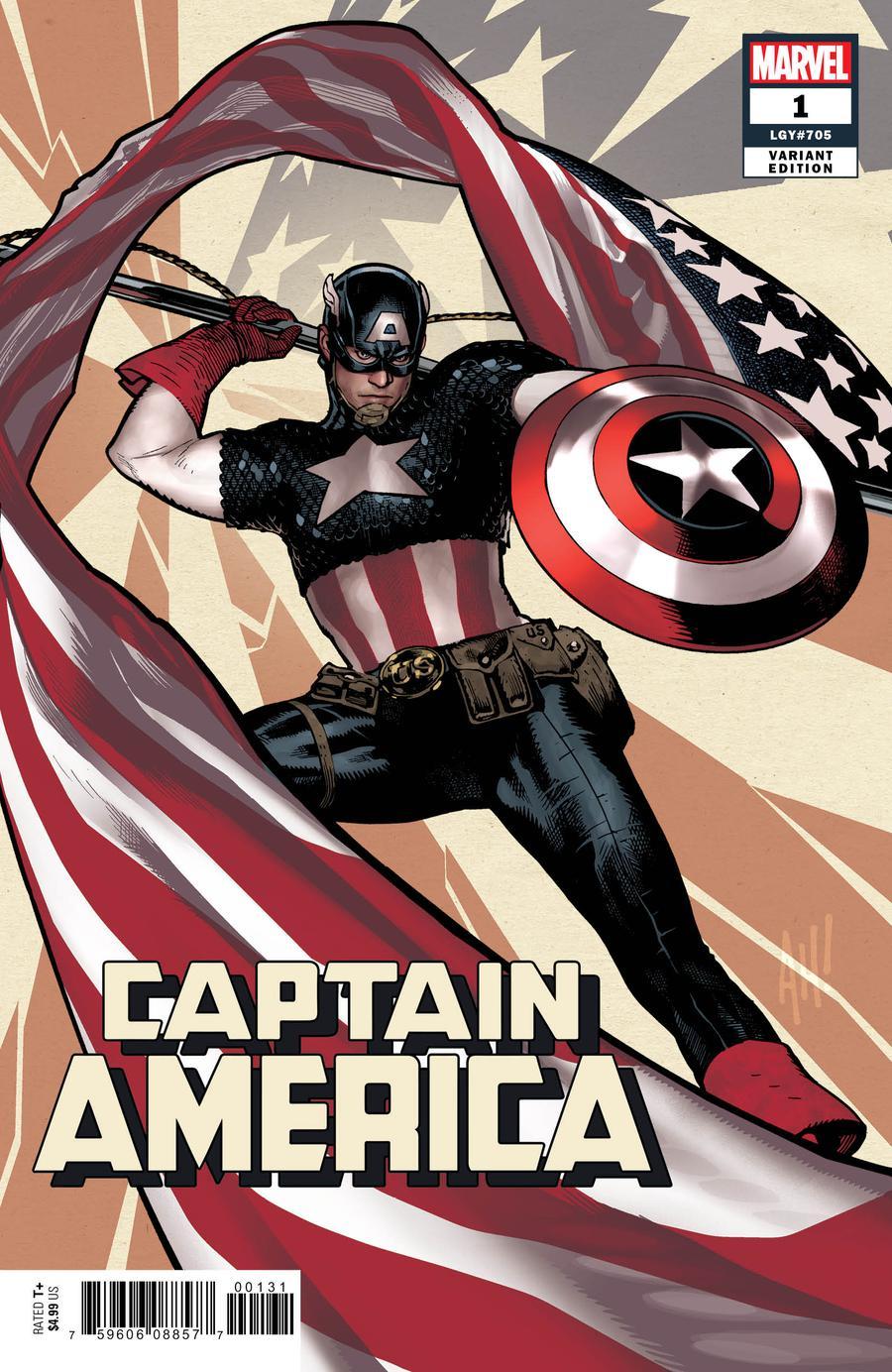 Captain America Vol 9 #1 Cover B Variant Adam Hughes Cover
