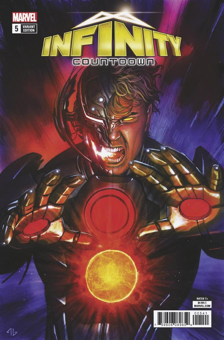 Infinity Countdown #5 Cover D Variant Adi Granov Ultron Holds Infinity Cover