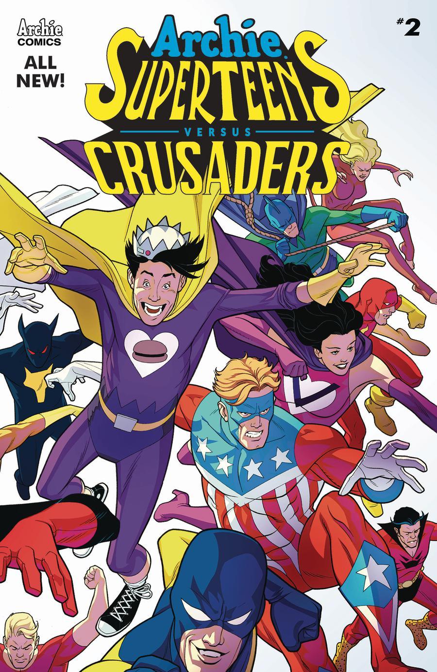 Archie Superteens Versus Crusaders #2 Cover A Regular David Williams Color Cover
