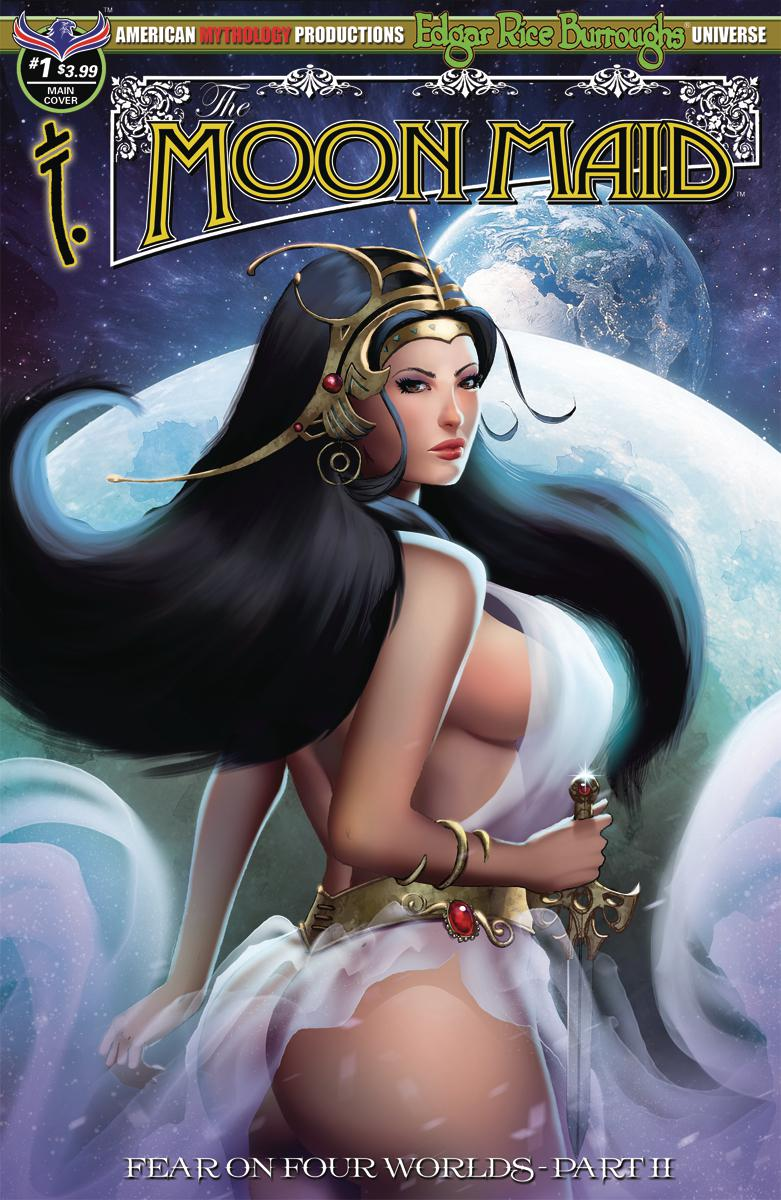 Moon Maid #1 Cover A Regular Mike Wolfer Cover (Fear On Four Worlds Part 2)