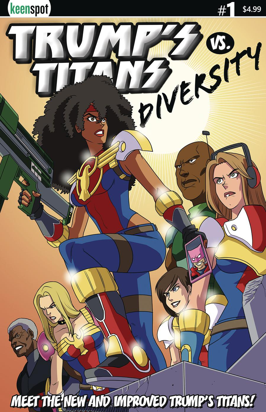 Trumps Titans vs Diversity #1 Cover C Variant Shawn Remulac New Team Cover