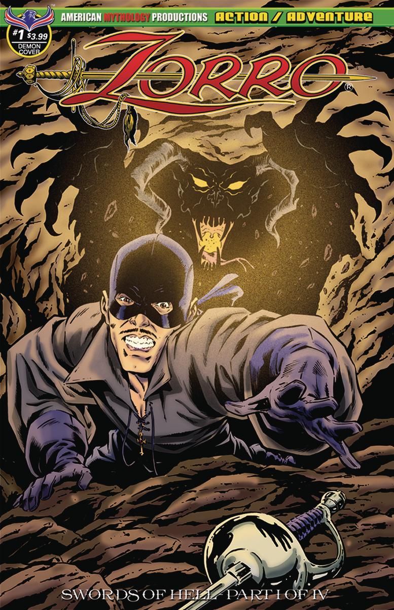 Zorro Swords Of Hell #1 Cover B Variant SL Gallant Demon Fury Cover
