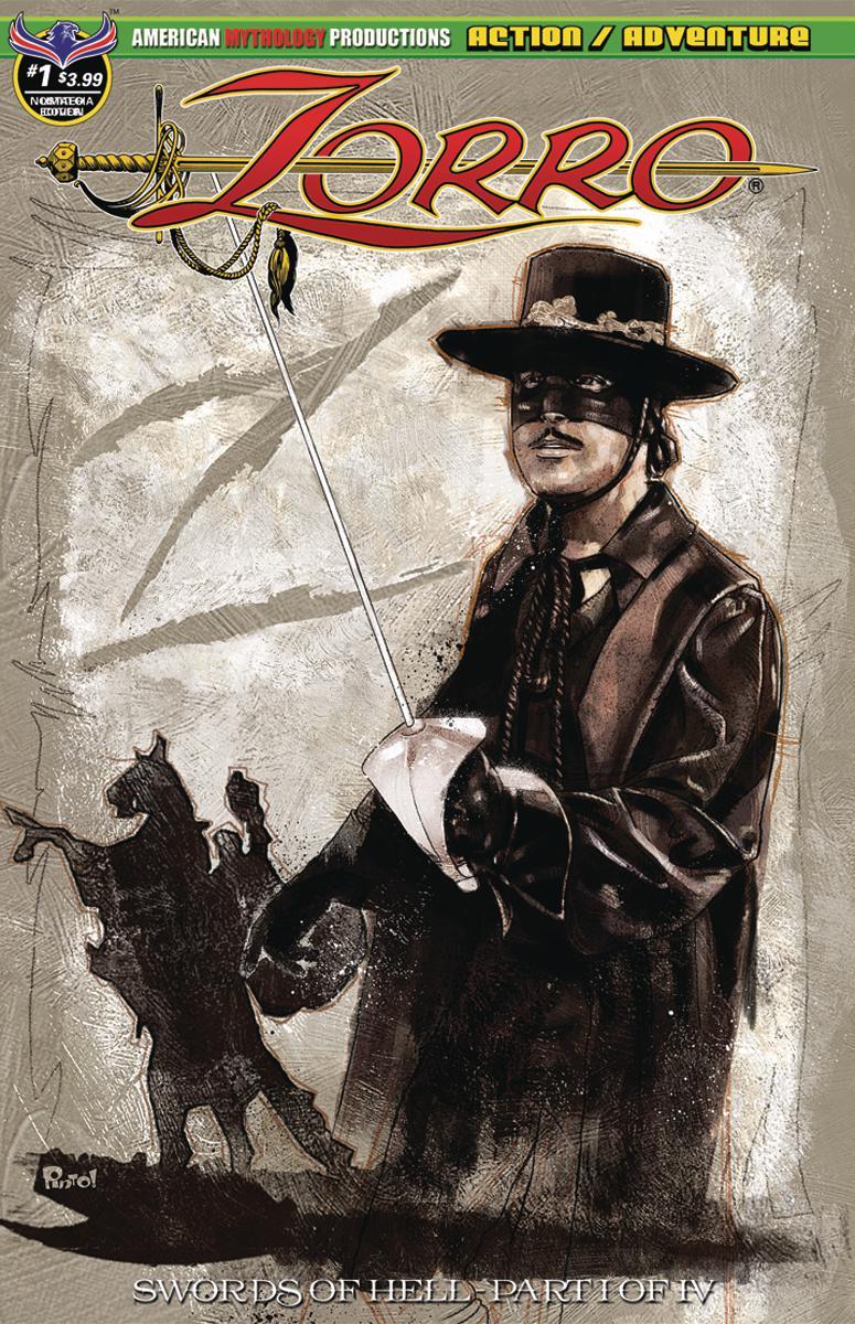 Zorro Swords Of Hell #1 Cover C Variant Jon Pinto Classic Nostalgia Cover
