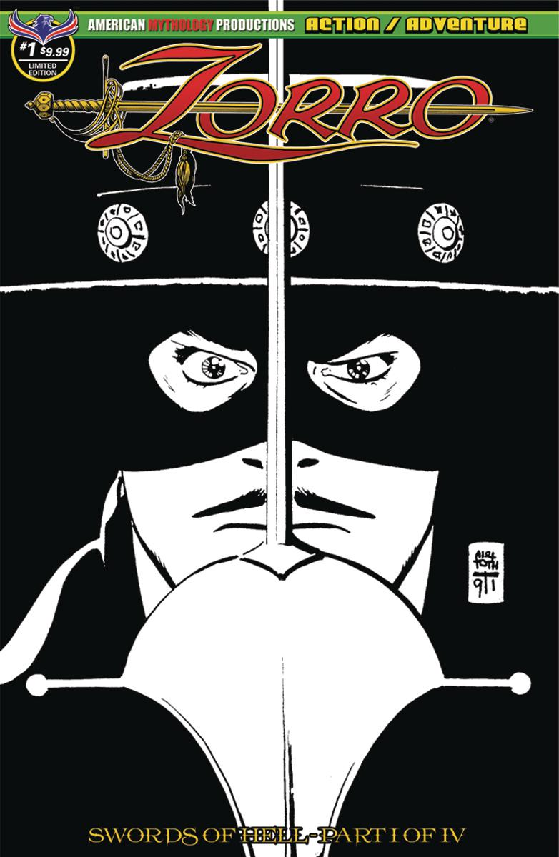Zorro Swords Of Hell #1 Cover E Variant Alex Toth Visions Of Zorro Limited Edition Classic Cover