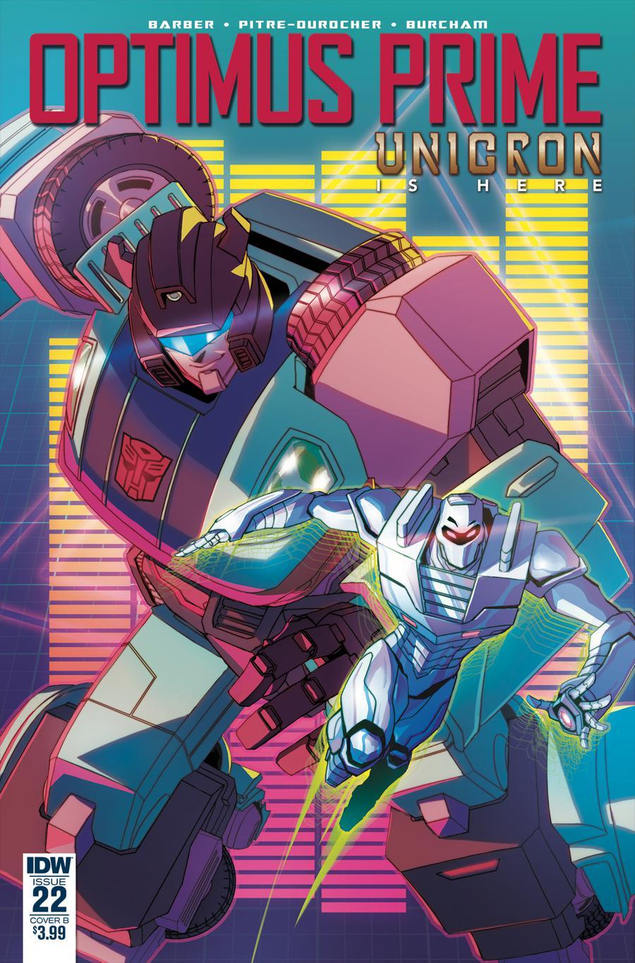 Optimus Prime #22 Cover B Variant Sara Pitre-Durocher Cover