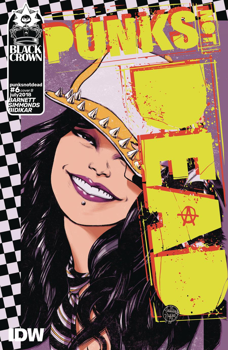 Punks Not Dead #6 Cover B Variant Julian Dassai Cover