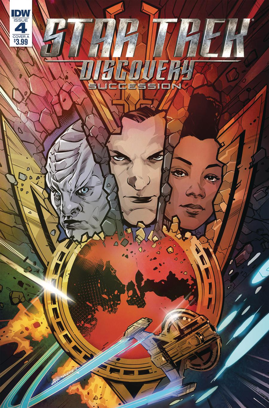Star Trek Discovery Succession #4 Cover A Regular Angel Hernandez Cover