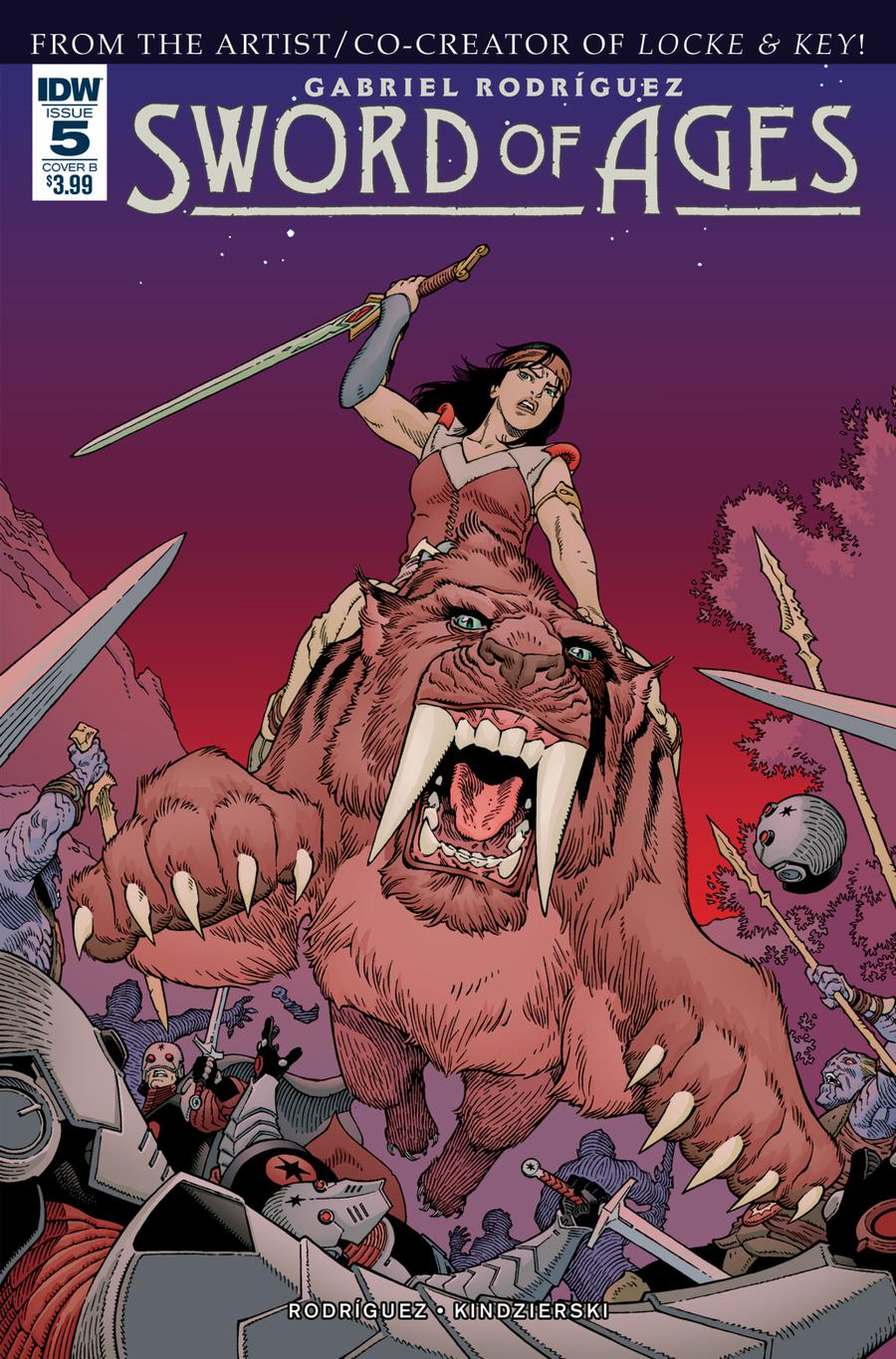 Sword Of Ages #5 Cover B Variant Gabriel Rodriguez Cover