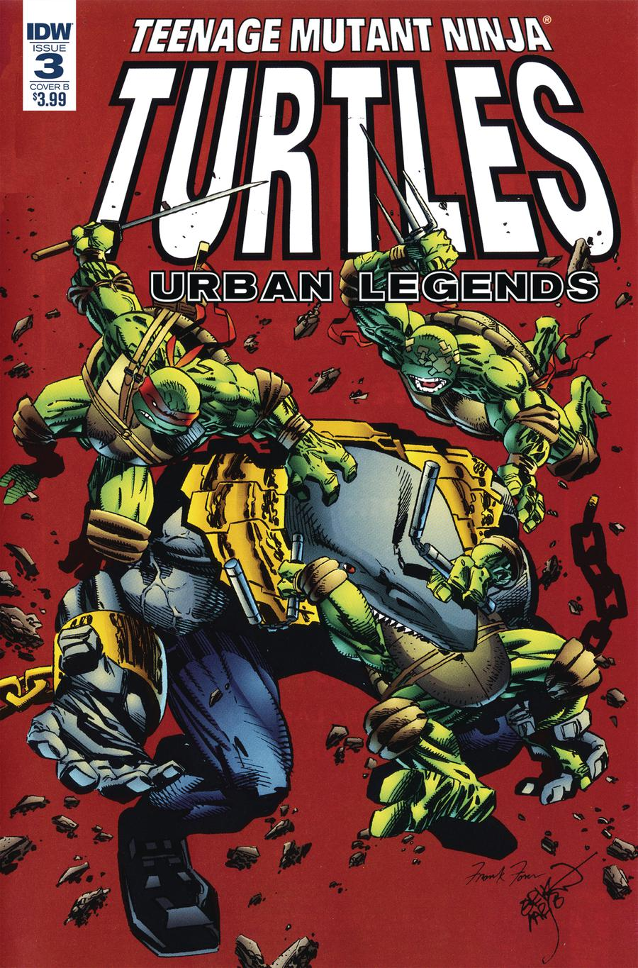 Teenage Mutant Ninja Turtles Urban Legends #3 Cover B Variant Erik Larsen & Frank Fosco Cover