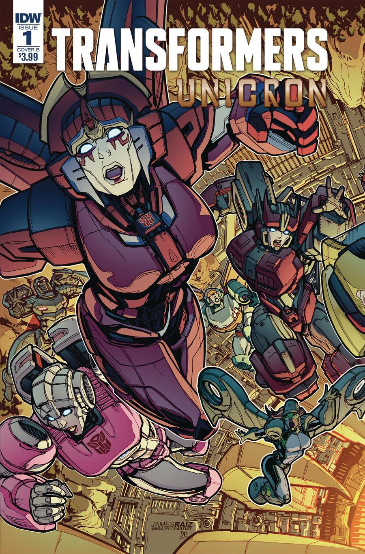 Transformers Unicron #1 Cover B Variant James Raiz Cover