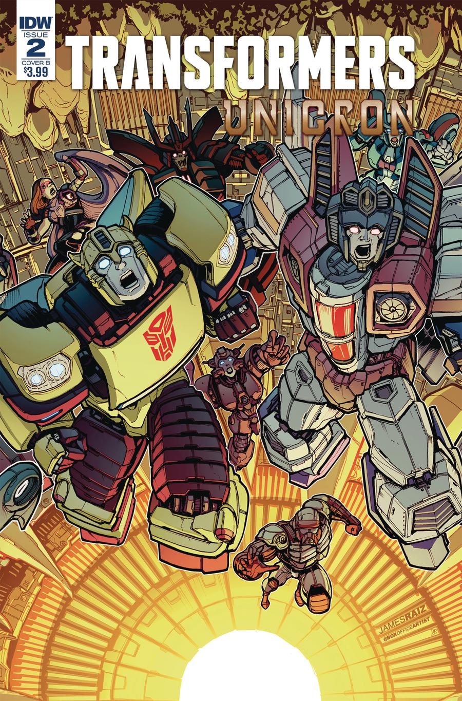 Transformers Unicron #2 Cover B Variant James Raiz Cover