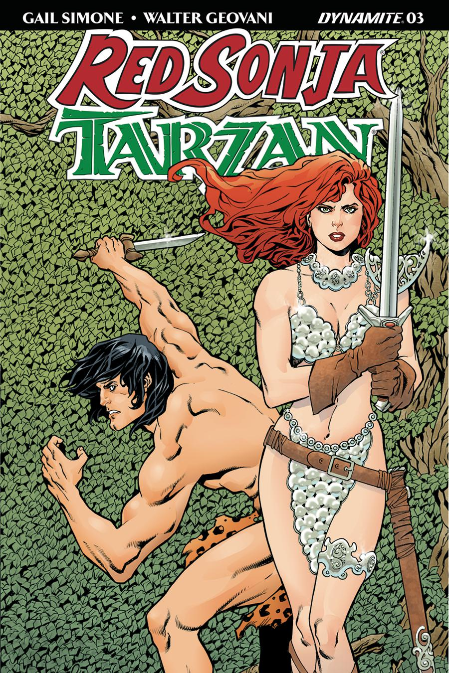 Red Sonja Tarzan #3 Cover A Regular Aaron Lopresti Cover