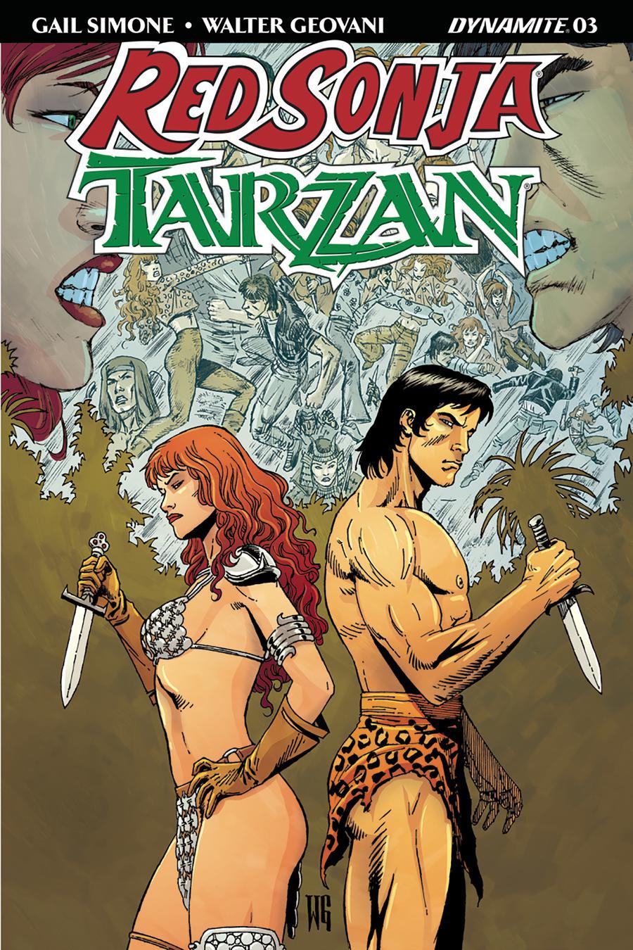 Red Sonja Tarzan #3 Cover B Variant Walter Geovani Cover