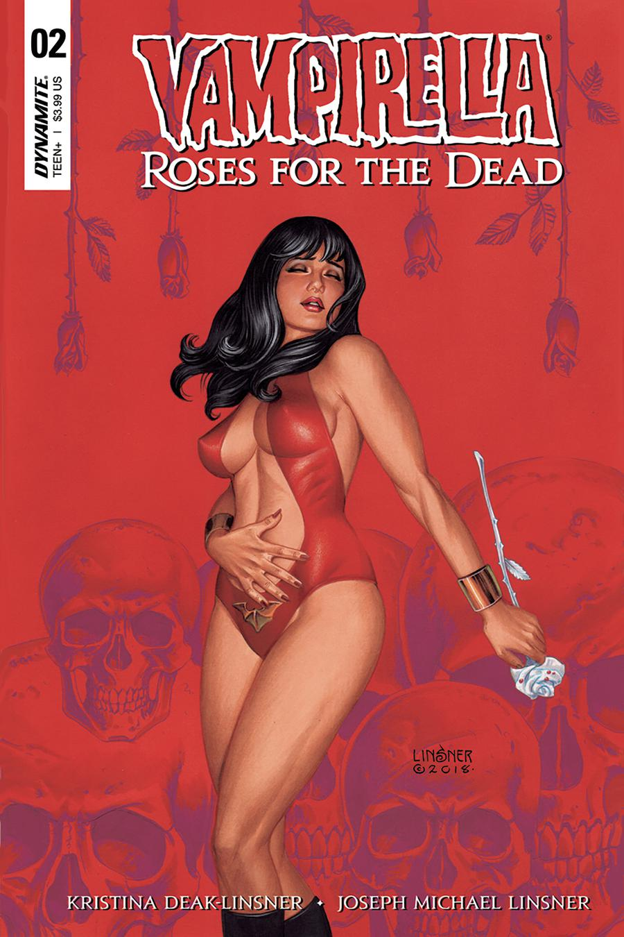 Vampirella Roses For The Dead #2 Cover A Regular Joseph Michael Linsner Cover